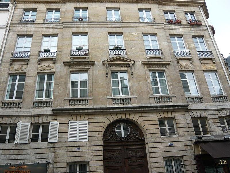 Photo du Monument Historique Maison situé à Paris 3e Arrondissement