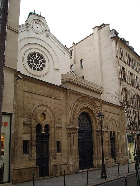 Photo du Monument Historique Synagogue situé à Paris 3e Arrondissement
