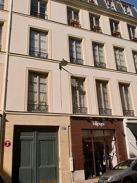 Photo du Monument Historique Immeuble abritant l'ancien théâtre Directoire situé à Paris 3e Arrondissement