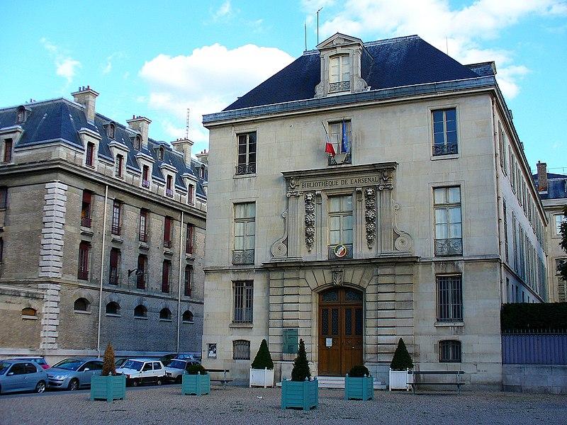 Photo du Monument Historique Pavillon de l'Arsenal, actuellement bibliothèque de l'Arsenal situé à Paris 4e Arrondissement