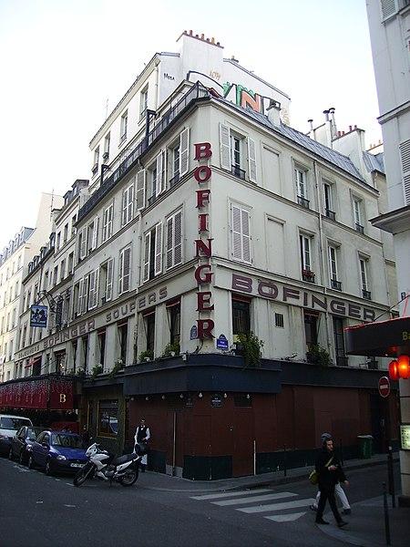 Photo du Monument Historique Brasserie Bofinger situé à Paris 4e Arrondissement