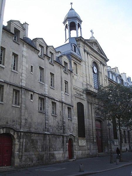 Photo du Monument Historique Temple des Billettes (ancien couvent des Carmes-Billettes) situé à Paris 4e Arrondissement