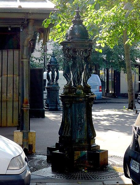 Photo du Monument Historique Fontaine Wallace (deux) situé à Paris 4e Arrondissement
