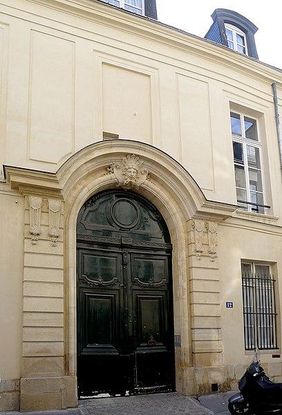 Photo du Monument Historique Ancien hôtel d'Aubray situé à Paris 4e Arrondissement