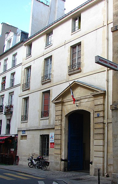 Photo du Monument Historique Ancien Hôtel de Chavigny ou Hôtel Poulletier situé à Paris 4e Arrondissement