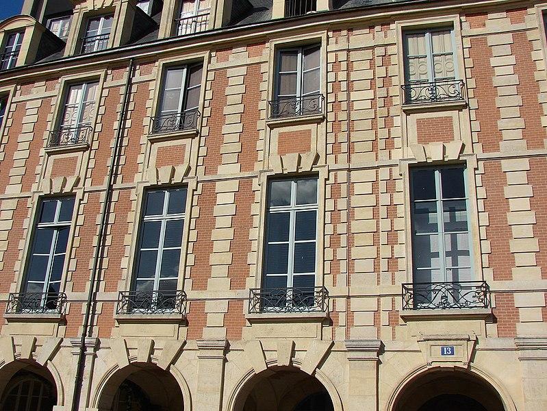Photo du Monument Historique Ancien Hôtel Dyel des Hameaux situé à Paris 4e Arrondissement