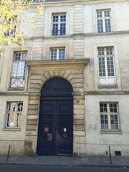 Photo du Monument Historique Petit Hôtel de Fourcy situé à Paris 4e Arrondissement