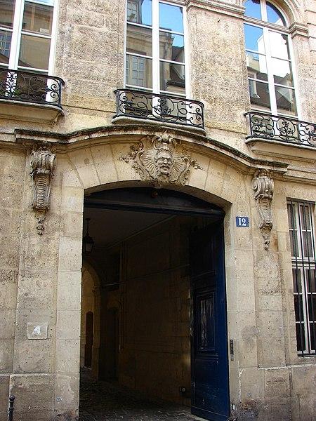 Photo du Monument Historique Hôtel  , dit Hôtel Le Rebours situé à Paris 4e Arrondissement
