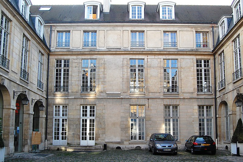 Photo du Monument Historique Hôtel Le Tellier ou Barbes (ancien hôtel Deniau de Fontenay ou de Coulanges) situé à Paris 4e Arrondissement