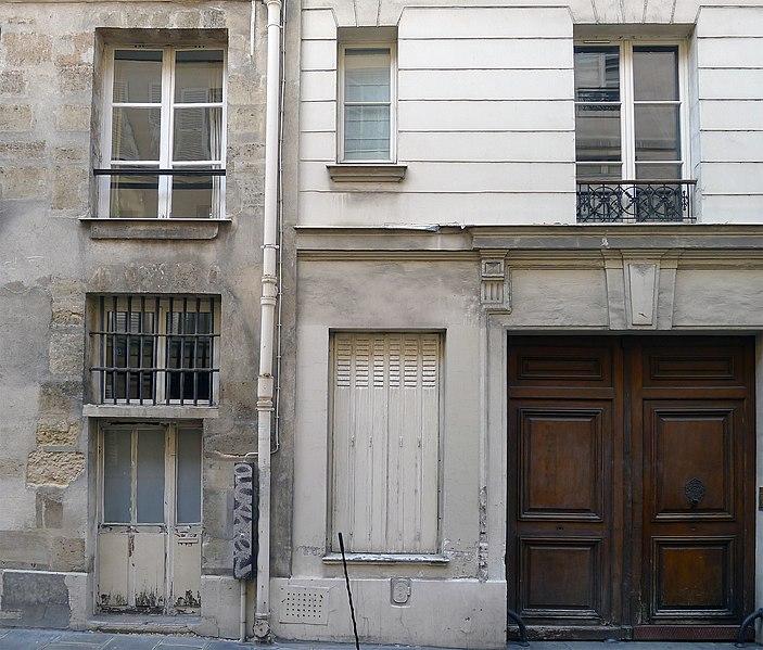 Photo du Monument Historique Ancien hôtel Thuriot de la Rosière situé à Paris 4e Arrondissement