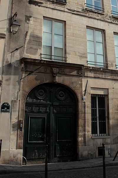 Photo du Monument Historique Immeuble situé 22 rue Geoffroy-l'Asnier (Paris IVe arr.) situé à Paris 4e Arrondissement