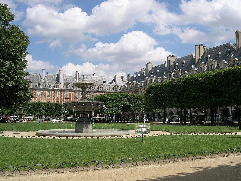 Photo du Monument Historique Place des Vosges situé à Paris 4e Arrondissement