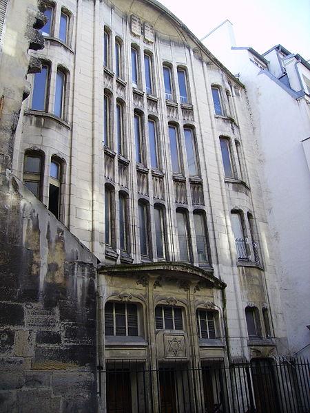 Photo du Monument Historique Synagogue situé à Paris 4e Arrondissement