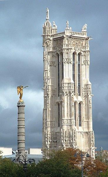 Photo du Monument Historique Tour Saint-Jacques situé à Paris 4e Arrondissement