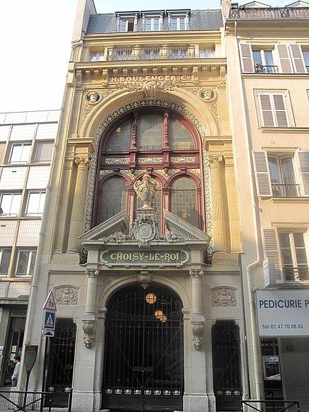 Photo du Monument Historique Anciens magasins de vente des faïenceries de Choisy-le-Roi situé à Paris 10e Arrondissement