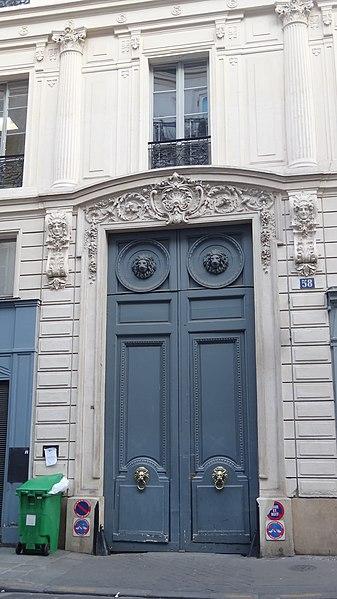 Photo du Monument Historique Maison, ancien hôtel Titon situé à Paris 10e Arrondissement