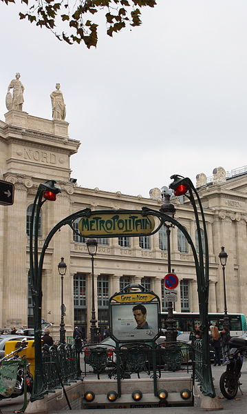 Photo du Monument Historique Métropolitain, station Gare du Nord situé à Paris 10e Arrondissement