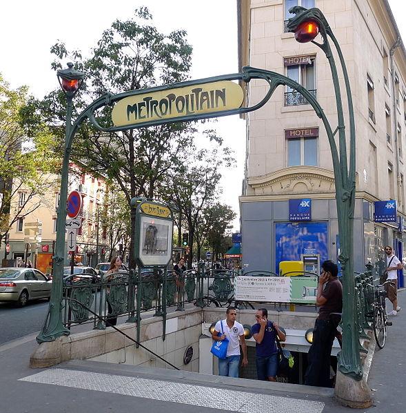 Photo du Monument Historique Métropolitain, station Louis-Blanc situé à Paris 10e Arrondissement