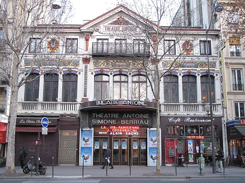 Photo du Monument Historique Théâtre Antoine situé à Paris 10e Arrondissement