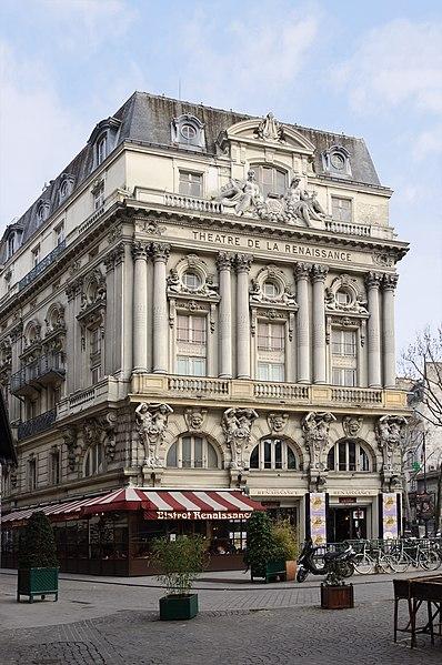 Photo du Monument Historique Théâtre de la Renaissance situé à Paris 10e Arrondissement