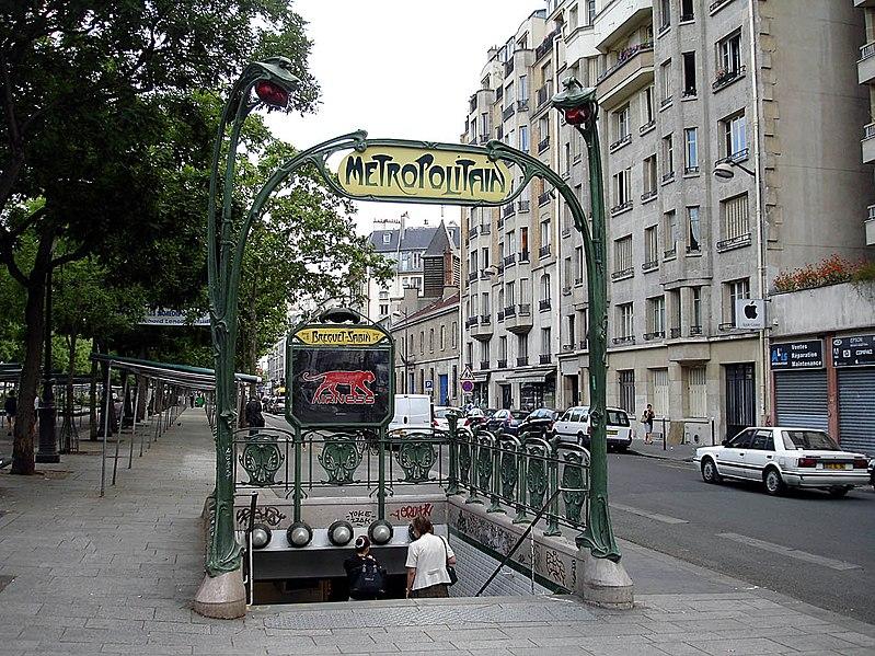 Photo du Monument Historique Métropolitain, station Bréguet-Sabin situé à Paris 11e Arrondissement