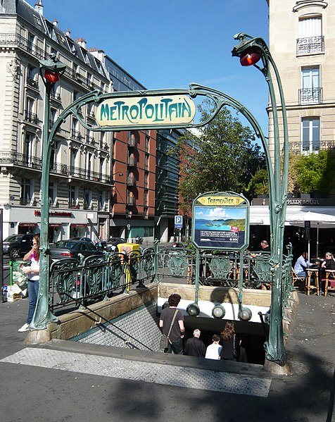 Photo du Monument Historique Métropolitain, station Parmentier situé à Paris 11e Arrondissement