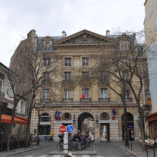 Photo du Monument Historique Hôpital Saint-Antoine situé à Paris 12e Arrondissement