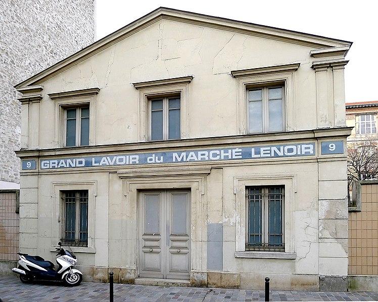 Photo du Monument Historique Lavoir du Marché Lenoir situé à Paris 12e Arrondissement