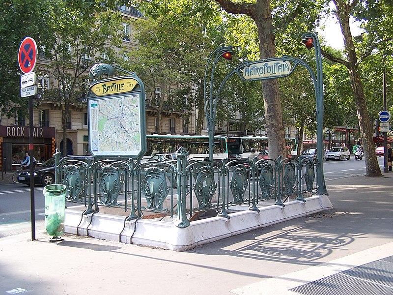 Photo du Monument Historique Métropolitain, station Bastille situé à Paris 12e Arrondissement