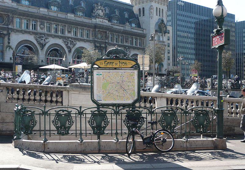 Photo du Monument Historique Métropolitain, station Gare de Lyon situé à Paris 12e Arrondissement