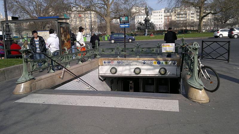 Photo du Monument Historique Métropolitain, station Nation situé à Paris 12e Arrondissement