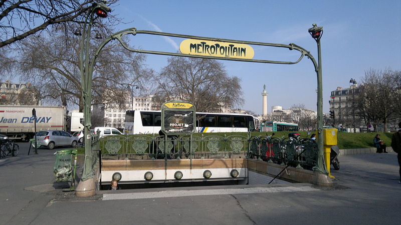 Photo du Monument Historique Métropolitain, station Nation situé à Paris 12e Arrondissement