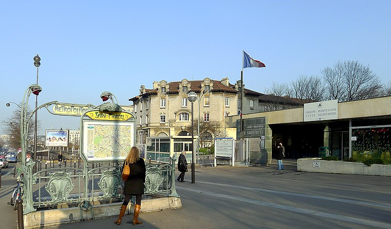 Photo du Monument Historique Métropolitain, station Saint-Marcel situé à Paris 13e Arrondissement