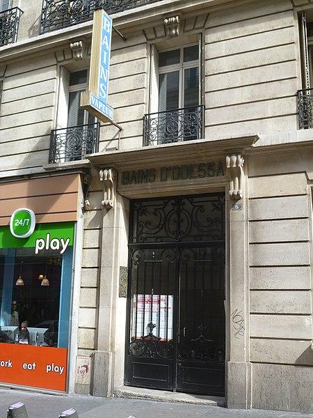 Photo du Monument Historique Bains d'Odessa situé à Paris 14e Arrondissement
