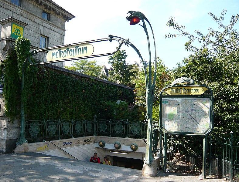 Photo du Monument Historique Métropolitain, station Denfert-Rochereau situé à Paris 14e Arrondissement