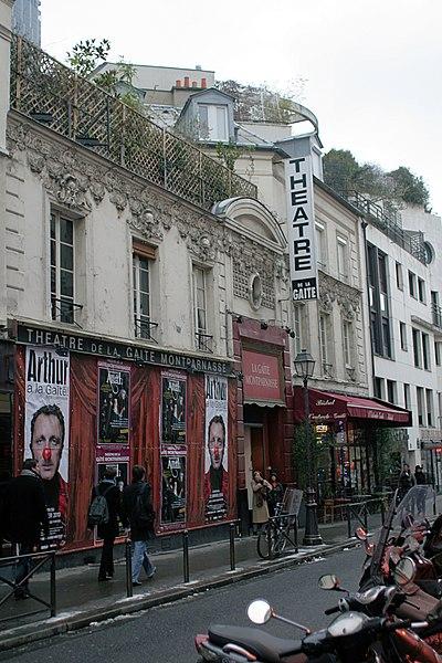 Photo du Monument Historique Théâtre de la Gaité-Montparnasse situé à Paris 14e Arrondissement