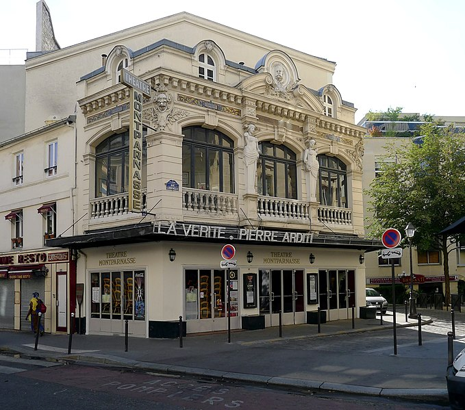 Photo du Monument Historique Théâtre Montparnasse ; Théâtre Montparnasse-Gaston Baty situé à Paris 14e Arrondissement