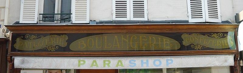Photo du Monument Historique Boulangerie-pâtisserie-confiserie situé à Paris 15e Arrondissement