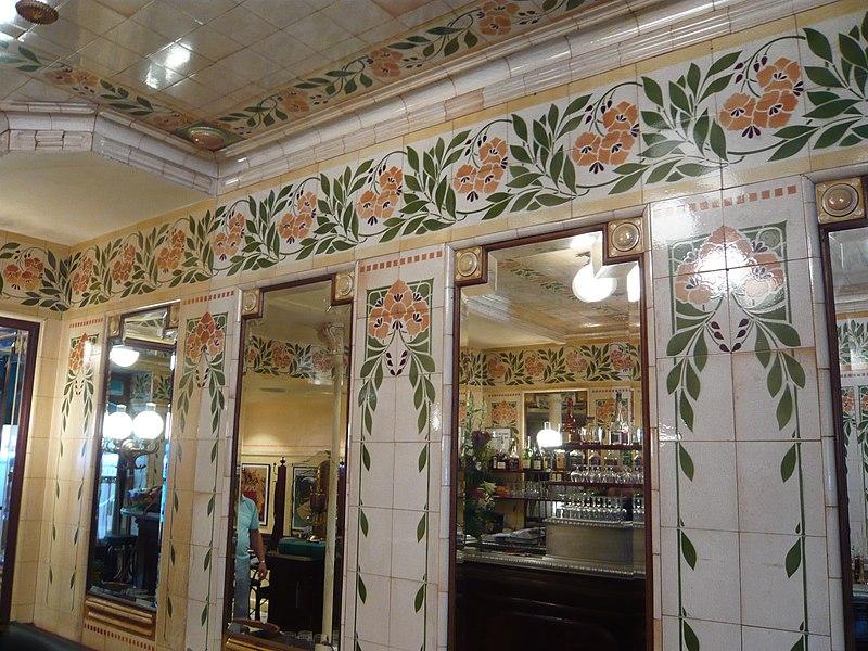 Photo du Monument Historique Café-Bar situé à Paris 16e Arrondissement