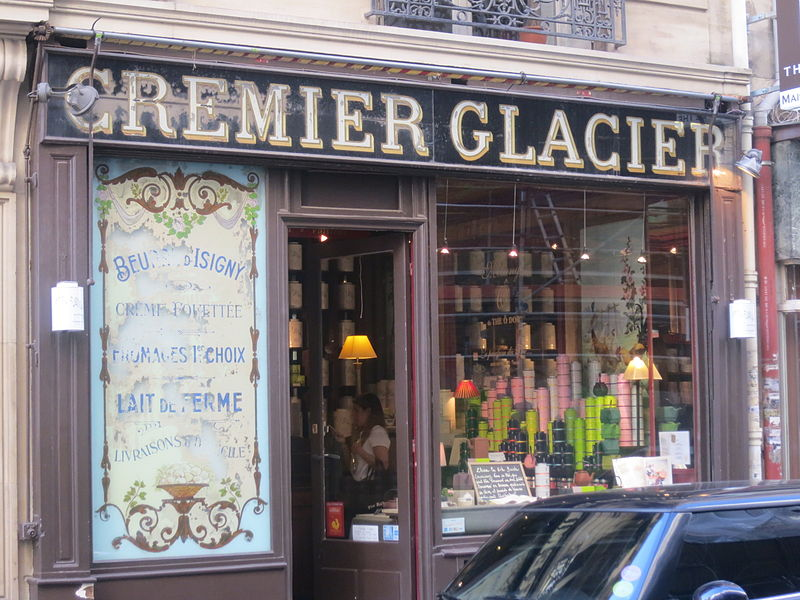 Photo du Monument Historique Ancienne crèmerie situé à Paris 16e arrondissement