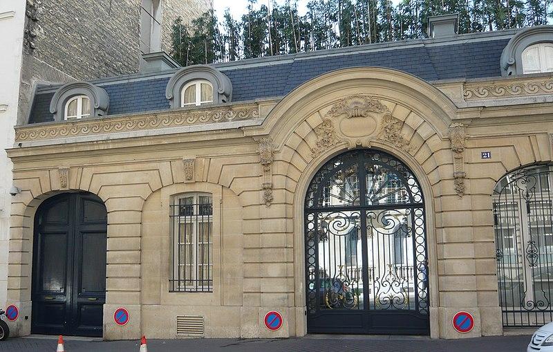 Photo du Monument Historique Hôtel Le Vavasseur situé à Paris 16e Arrondissement