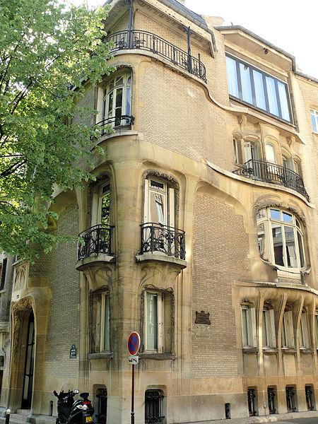 Photo du Monument Historique Ancien hôtel particulier d'Hector Guimard situé à Paris 16e arrondissement