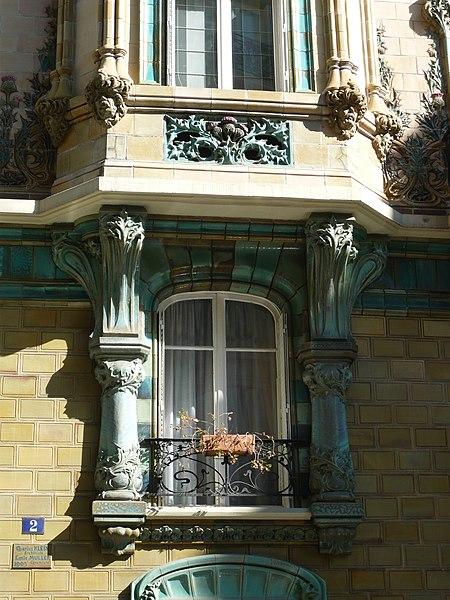 Photo du Monument Historique Immeuble Les Chardons situé à Paris 16e Arrondissement
