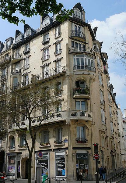 Photo du Monument Historique Immeuble Jassédé situé à Paris 16e Arrondissement