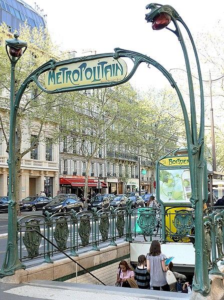 Photo du Monument Historique Métropolitain, station Boissière situé à Paris 16e Arrondissement