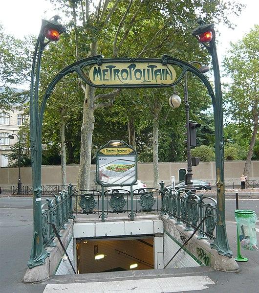 Photo du Monument Historique Métropolitain, station Chardon-Lagache situé à Paris 16e Arrondissement