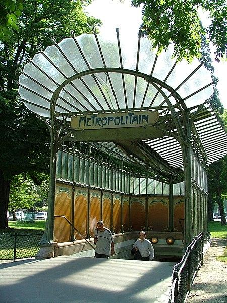 Photo du Monument Historique Métropolitain, station Dauphine situé à Paris 16e Arrondissement