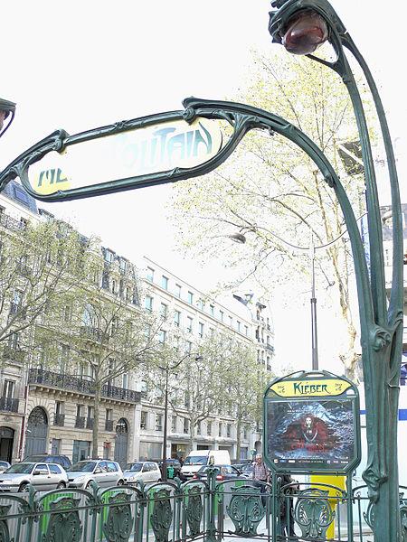 Photo du Monument Historique Métropolitain, station Kléber situé à Paris 16e Arrondissement