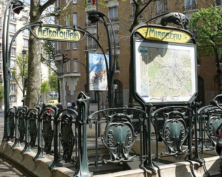 Photo du Monument Historique Métropolitain, station Mirabeau situé à Paris 16e Arrondissement