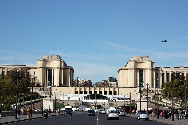 Photo du Monument Historique Palais de Chaillot situé à Paris 16e Arrondissement